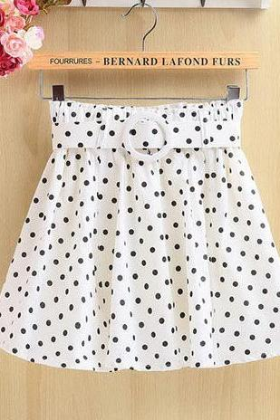 Floral Polka Dot Skirt GD0702FC