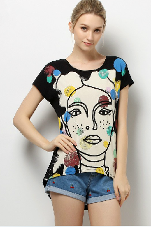 Spring, summer, the new women's modal loose printed t-shirts