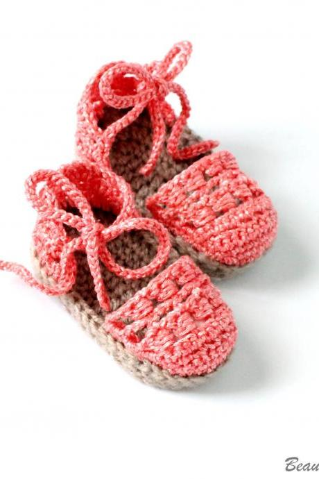 Crochet Baby Espadrille Pattern, Baby Espadrille Sandals Pattern, Crochet Summer Shoes Pattern