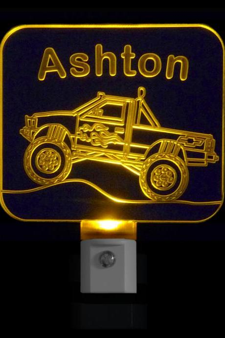 Personalized Monster Truck LED Night Light
