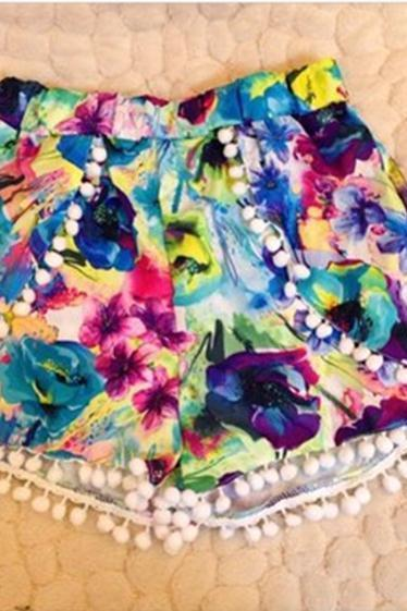 Fashion colorful shorts