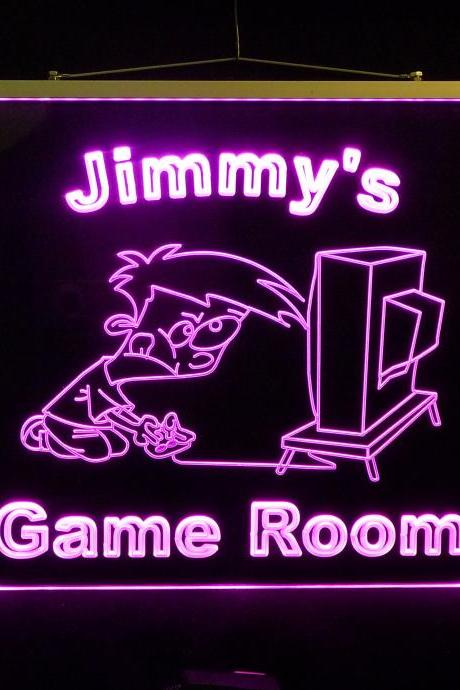Personalized Game Room, Man Cave, Garage LED Sign, Multi-Color Changing