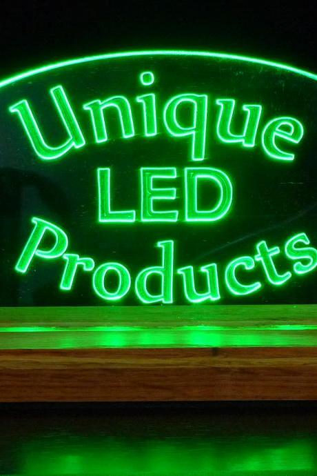 Personalized USB Powered LED Desk/Table Sign- Can also plug into Wall outlet with USB Converter