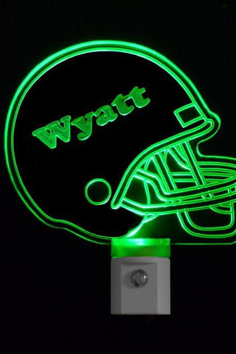 Kids Personalized Football Helmet LED Night Light with Name