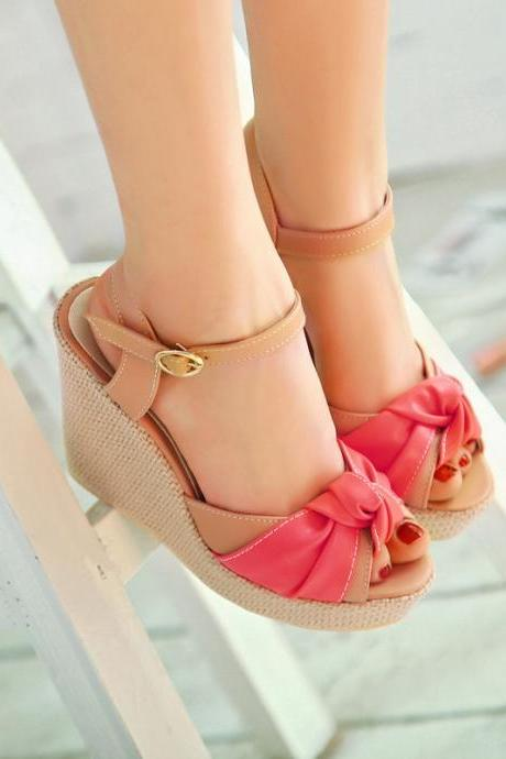 High-heeled sandals fish head