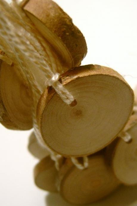 12 Hang Tag Blanks Unfinished Wood Tree Branch Slice 1 inch