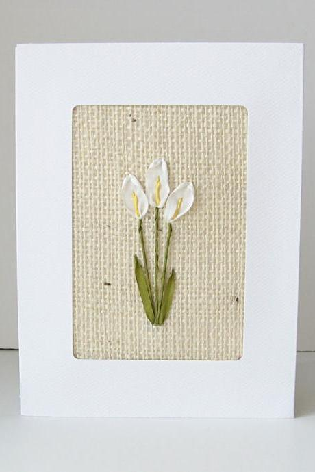 Calla Lilies Card. wedding. anniversary. birthday.