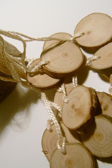 Hang Tag Blanks Unfinished Wood Tree Branch Slice 1 inch 50 tags