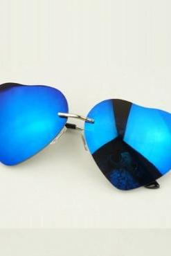 Blue Heart Shape Sunglasses