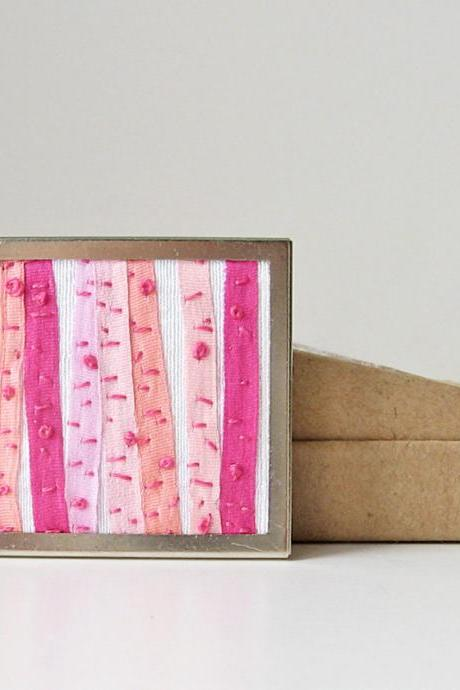 Pink Birch Trees Brooch