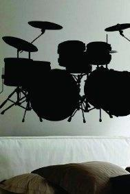 Drum SET Version 101 Wall Mural Decal Sticker Music