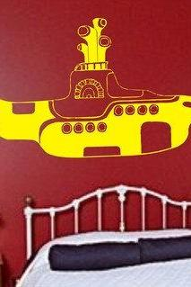 The Beatles Yellow Submarine Wall Decal Sticker