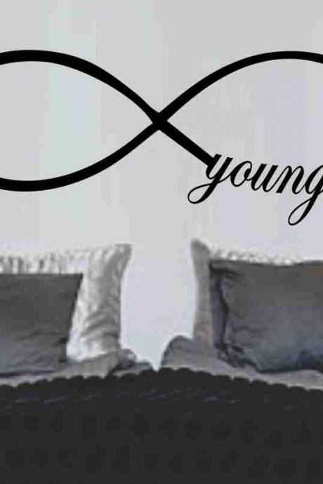 Forever Young Infinity Symbol Wall Decal Sticker Family Art Graphic Home Decor Mural Decal Sticker Famous Quotes