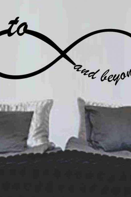 To Infinity and Beyond Symbol Wall Decal Sticker Family Art Graphic Home Decor Mural Decal Sticker Famous Quotes