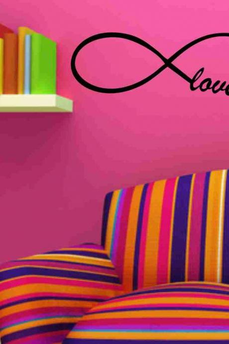 Love Forever Infinity Wall Decal Sticker Family Art Graphic Home Decor Mural Decal Sticker Famous Quotes