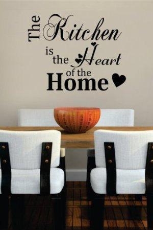 Wall Decal Quotes - Kitchen Heart of the Home Dining Room Restaurant Wall Graphic Art