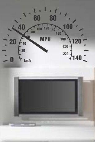 Extra Large Speedometer Wall Decal Sticker