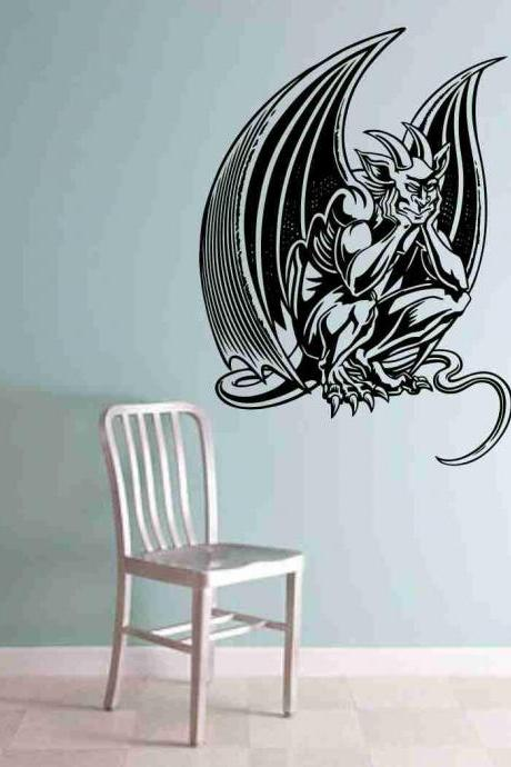 Gargoyle Version 102 Decal Sticker Wall Art Graphic Dragons Cartoon
