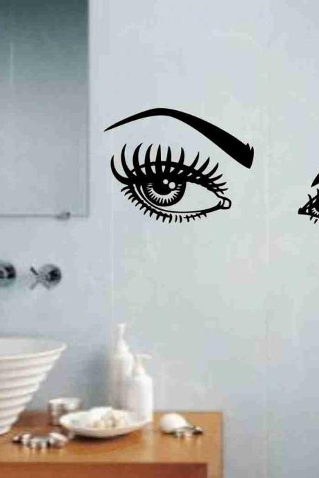 Girl Eyes Decal Sticker Wall Art Graphic