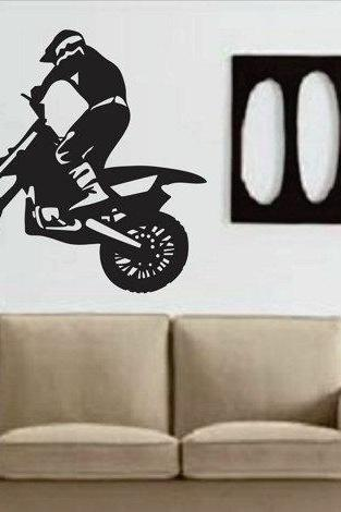 Dirtbike Rider Wall Decal Sticker mx X Games Trick Racing Motorcycle Series Wall Decal Sticker Item 101 Teen Room Decor