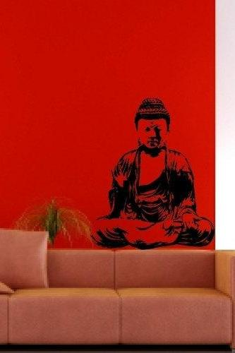 Wall Mural Decal Sticker Home Buddha India Meditation