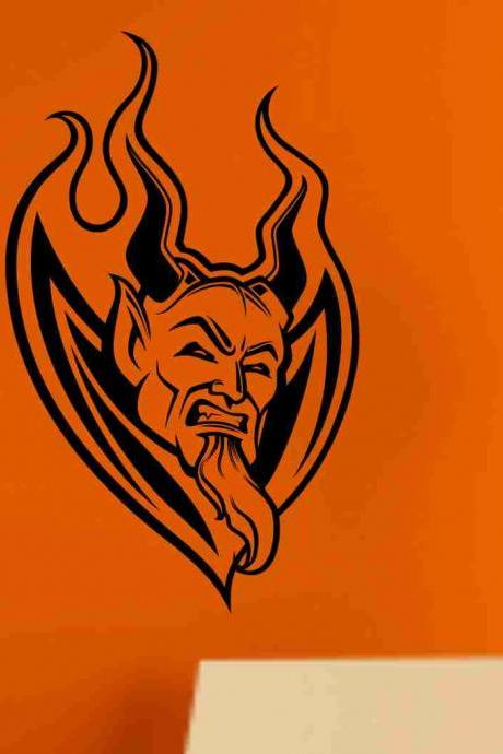 Devil Version 102 Wall Vinyl Decal Sticker Art Graphic Sticker Devils Satan