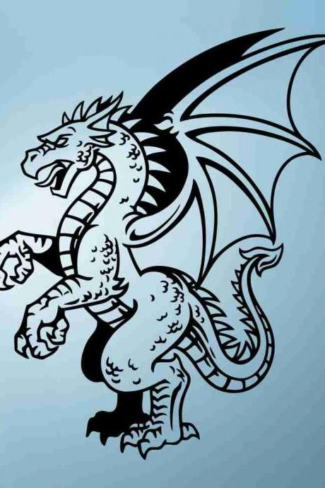 Dragon Version 122 Decal Sticker Wall Art Graphic Dragons Cartoon