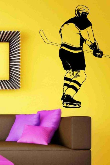 Hockey Version 113 Player Wall Vinyl Wall Decal Sticker Art Sports Kid Children Nursery Boy Teen