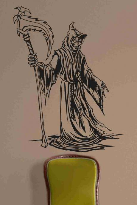 Skull Version 126 Bones Grim Reaper Wall Vinyl Decal Sticker Art Graphic Sticker Skulls