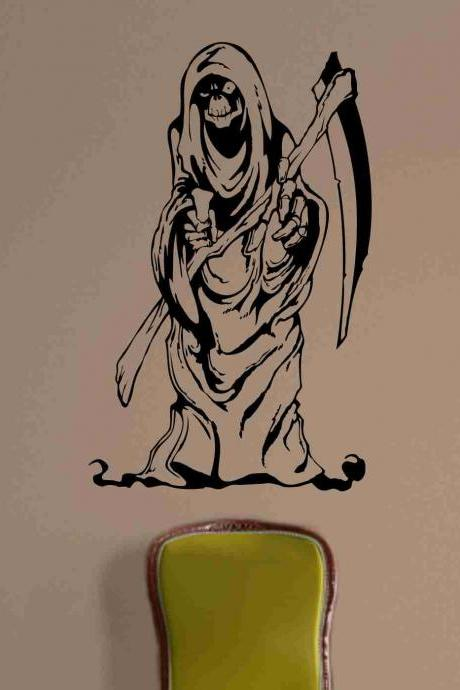 Skull Version 124 Bones Grim Reaper Wall Vinyl Decal Sticker Art Graphic Sticker Skulls