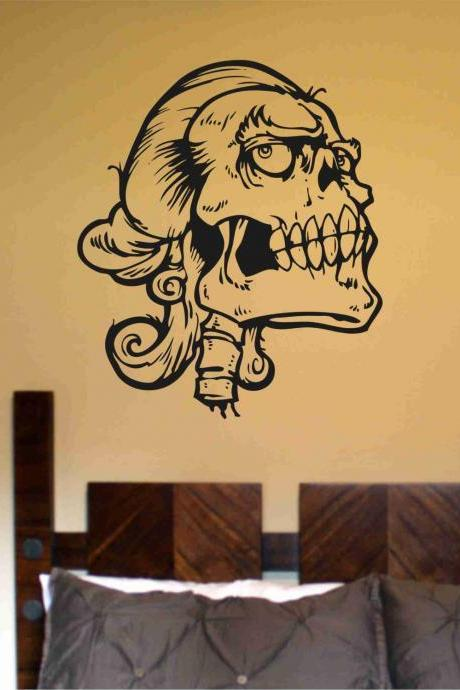 Skull Version 114 Bones Wall Vinyl Decal Sticker Art Graphic Sticker Skulls