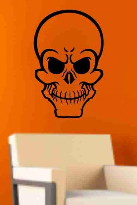 Skull Version 110 Wall Vinyl Decal Sticker Art Graphic Sticker Skulls