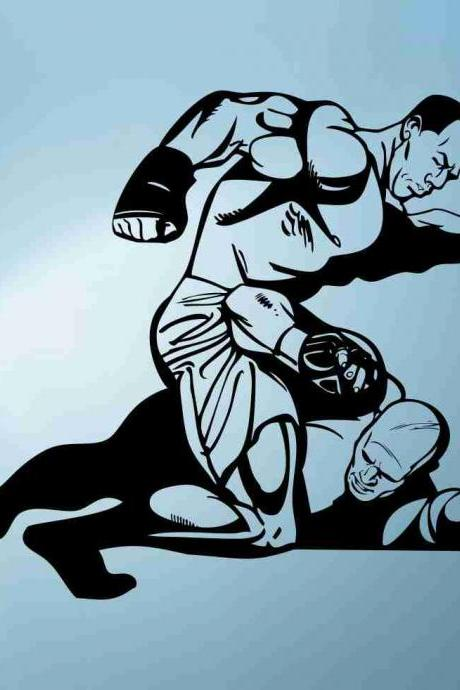 MMA Fighter Sticker Wall Decal Art Graphic