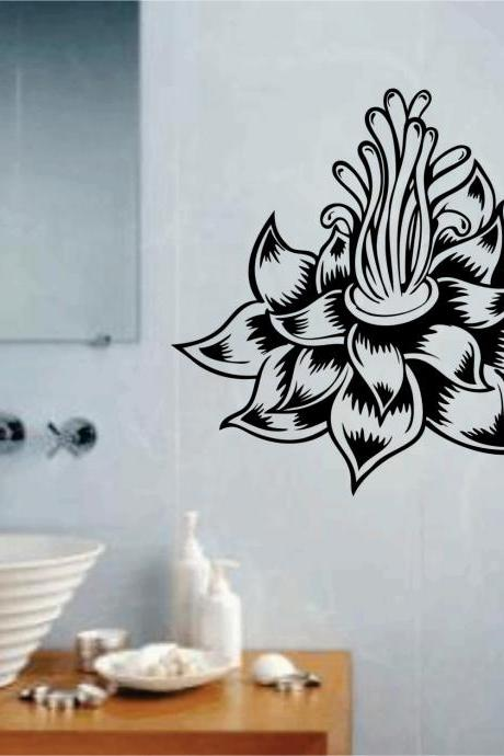 Lotus Flower Version 103 Wall Decal Sticker Art Graphic