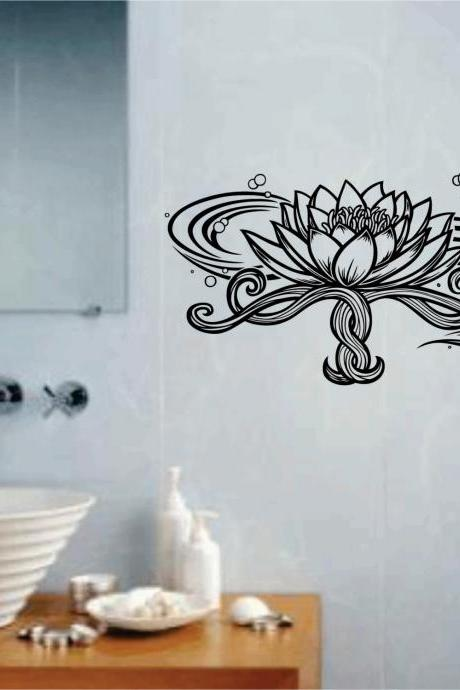 Lotus Flower Version 102 Wall Decal Sticker Art Graphic