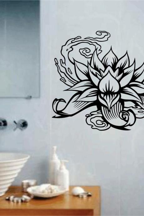 Lotus Flower Version 101 Wall Decal Sticker Art Graphic
