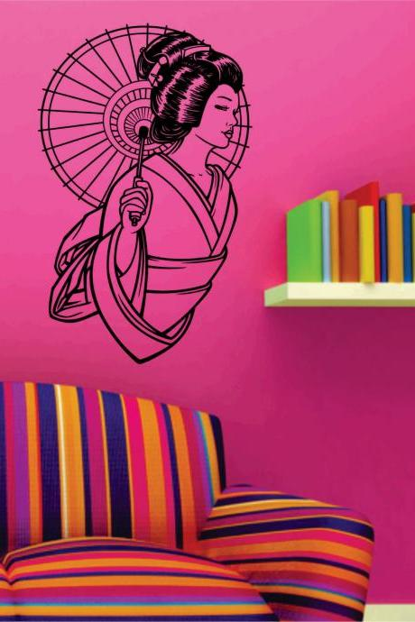Geisha Girl Version 103 Wall Decal Sticker Art Graphic