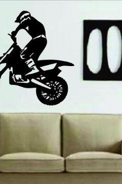 Dirtbike Rider MX X Games Version 105 Decal Sticker Wall