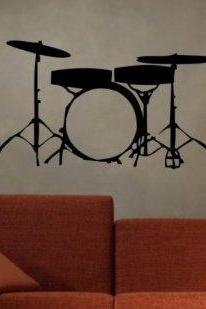 Drum SET Version 102 Wall Mural Decal Sticker Music