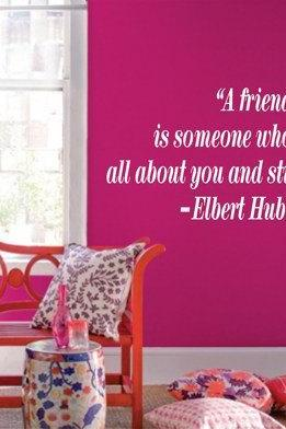 Wall Decal Quotes - A friend is someone who knows Quote Decal Sticker Wall