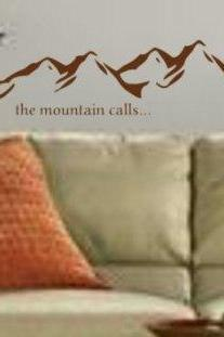 Mountain Landscape Wall Decal Sticker