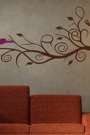 Modern Tree Branch with Bird Wall Decal Sticker