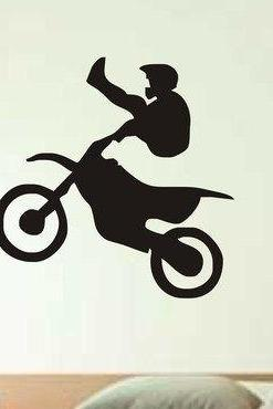 Dirtbike Rider MX X Games Version 104 Decal Sticker Wall