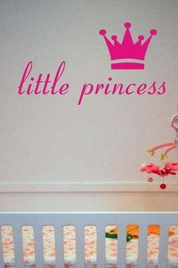 Little Princess and Crown Decal Sticker Wall