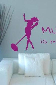 Wall Decal Quotes - Music Is My Life Wall Decal Sticker