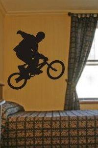 Bmx Rider Decal Sticker Wall