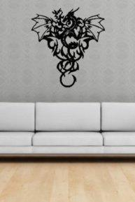 Tribal Dragon Version 202 Decal Sticker Wall Art Graphic