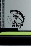 Fisherman Decal Decal Sticker Wall