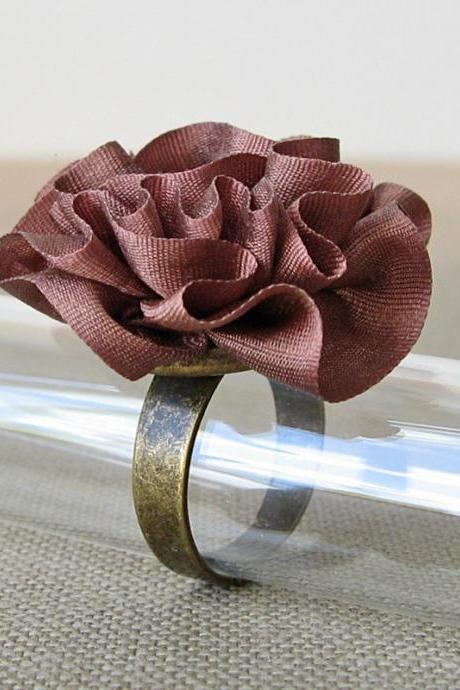 Chocolate Silk Ring