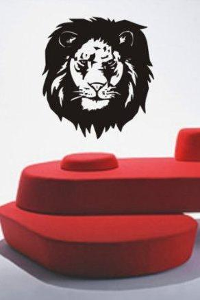 Lion Face Version 102 Decal Sticker Wall